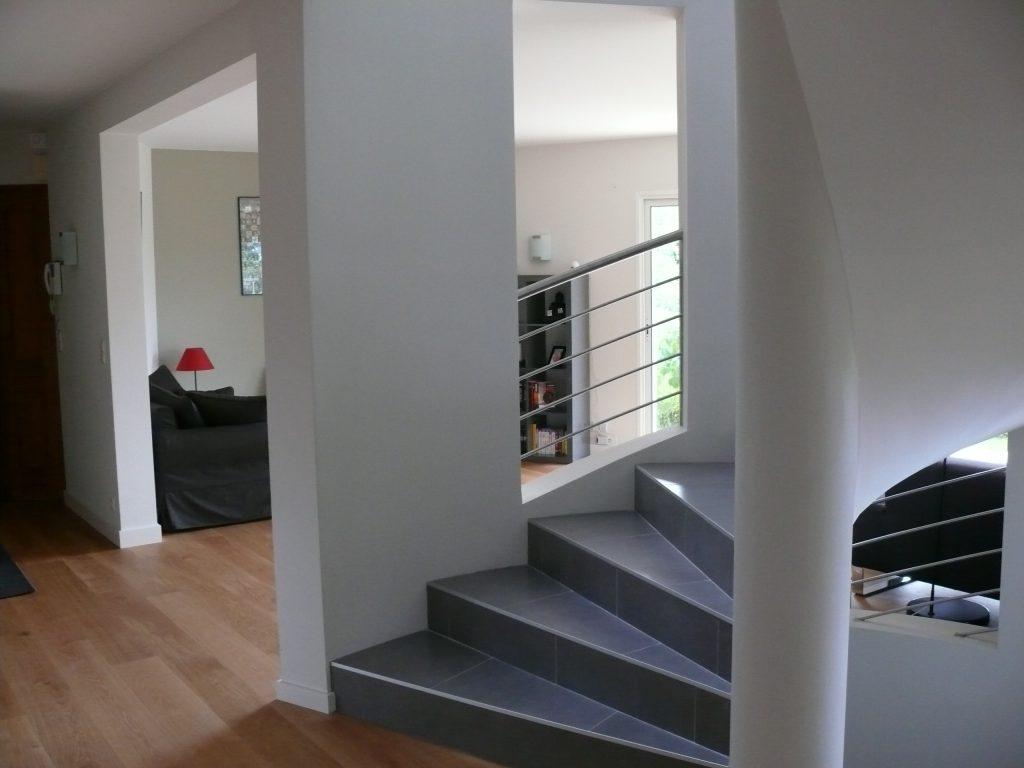 Réalisation escalier sur Divonne