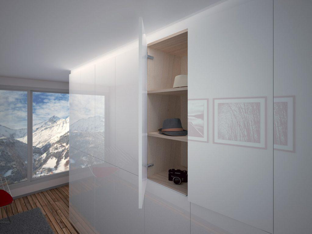 Aménagement de placard, Alpes Suisses